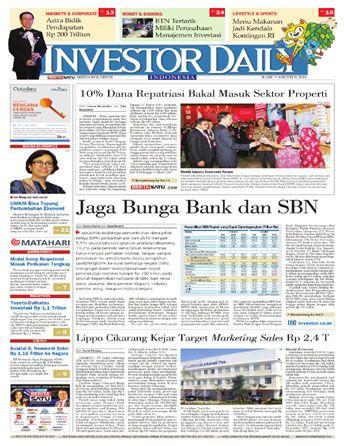 Investor Daily - 03 Agustus 2016 | Jaga Bunga Bank Dan SBN | Investor Daily