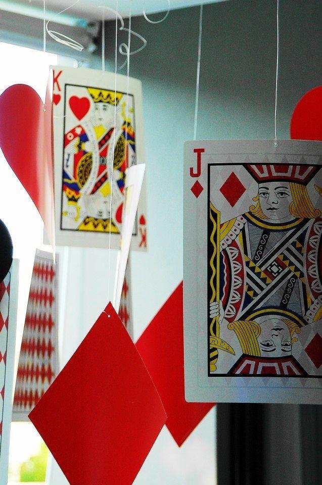Giant cards set the scene for Wonderland