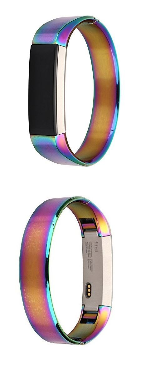 Fitbit Alta Stainless Steel Watch Band, HuanlongTM Stainless Steel Watch Band Wrist strap For Fitbit Alta Smart Watch Colorful