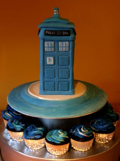 I am doing this. This is going to be my wedding cake. Nothing says forever, through all time and space like the TARDIS.