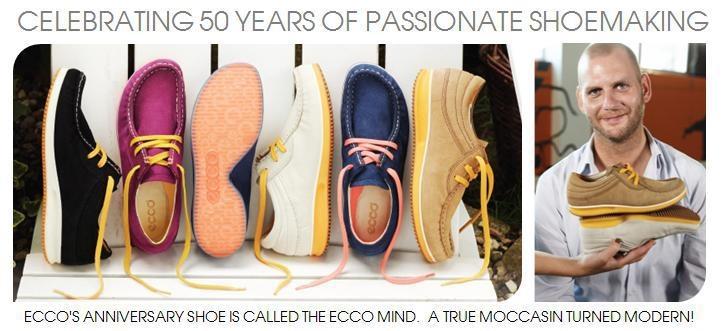 Sărbătorim 50 de ANI ECCO! 50 de ANI de Pasiune pentru pantofi!  Vă prezentăm ECCO Mind, modelul aniversar care combină 3 dintre cele mai bine vândute stiluri de pantofi din istoria ECCO!