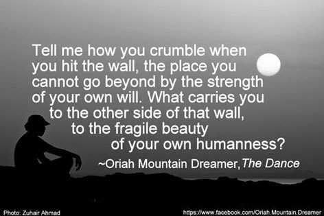Drawing my encouragement and motivation from the poem the invitation by oriah mountain dreamer
