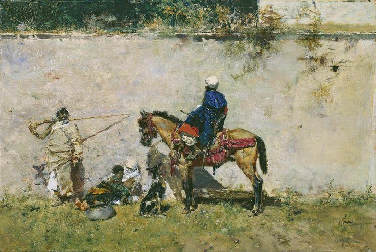Marroquíes, entre 1872 y 1874. Óleo sobre tabla, 13 × 19 cm. Museo del Prado.