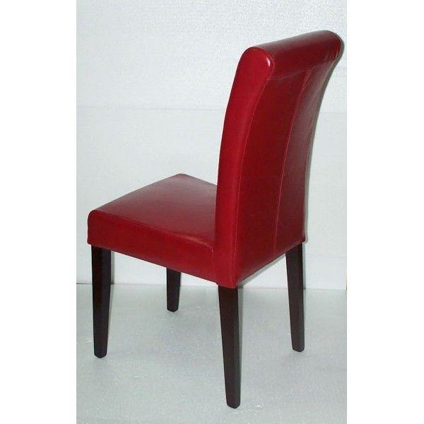 chaise en cuir rouge assise en mousse disponible la. Black Bedroom Furniture Sets. Home Design Ideas