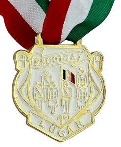 Medalla pintada mano para 1er. Lugar de concurso de Escolta con la bandera de México