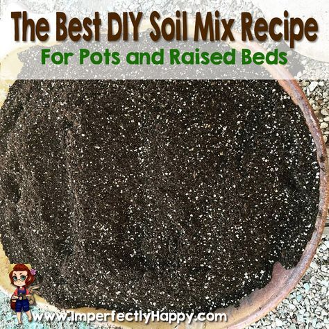 The Best Diy Soil Mix For Pots Raised Beds By Gardening Pinterest
