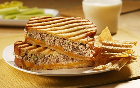 Classic Tuna Melt | StarKist ...love  Cucumber and carrot as a substituted for onion and celery.
