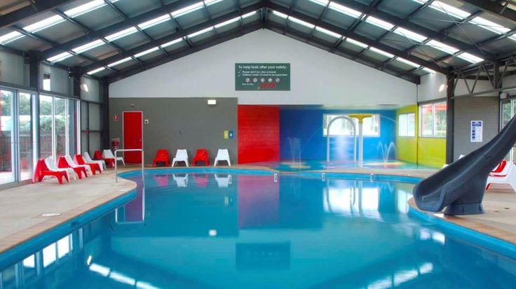 A caravan park custom built for families with young children, including an indoor water complex, a BMX track, cinema room and indoor toddler play room.