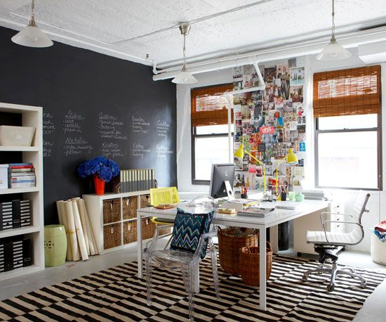Inspiration and idea slinging becomes a part of the design in this creative office.