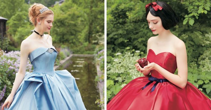 A Japanese Wedding Company Has Collaborated With Disney To Give Us The Most Incredible Princess Wedding Dresses Ever...