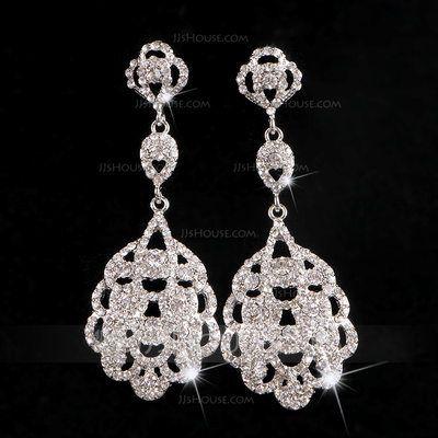 [€ 6.26] Hermoso Aleación/Diamantes de imitación Señoras' Pendientes (011106550)