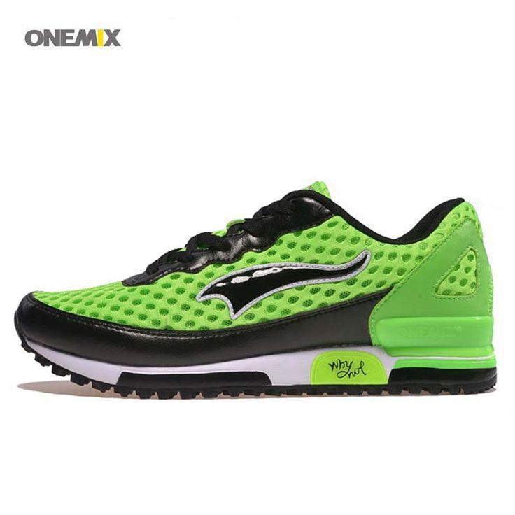 ONEMIX Free 1091 print wholesale ice breathe athletic Men's Women's Sneaker Training Sport Running shoes green black