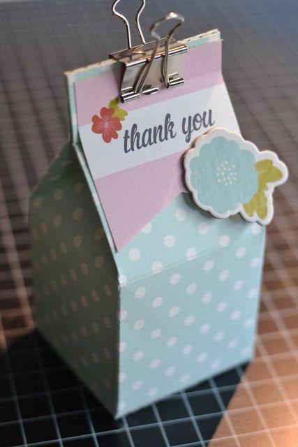 Step-By-Step Tutorial Milk Carton Box  --  http://thescrappymermaid.blogspot.com/2013/10/step-by-step-tutorial-milk-carton-box.html