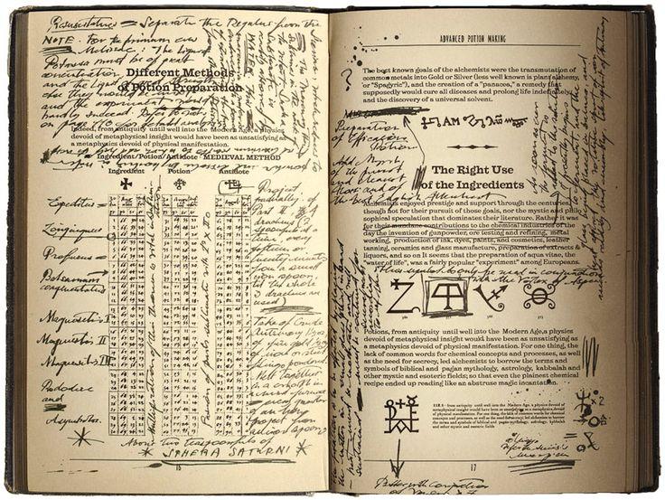 harry potter printables   Severus Snape's copy of Advanced Potion-Making