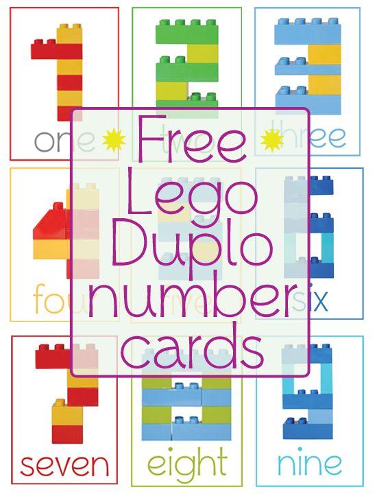 Lego Duplo Number Cards et également sur le site, il y a également la même chose pour les lettres de l'alphabet