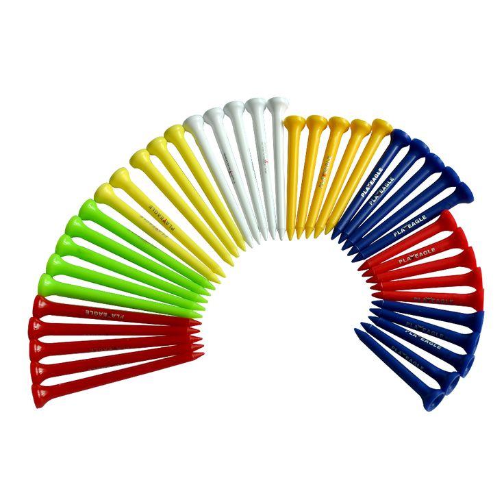 Wholesale 83mm Plastic Multi Random Color Golf Tees
