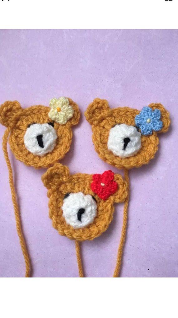 Free crochet pattern teddy bear face applique … | Crochet teddy ... | 1013x570