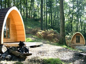 Quirky camping in posh pods in Yorkshire