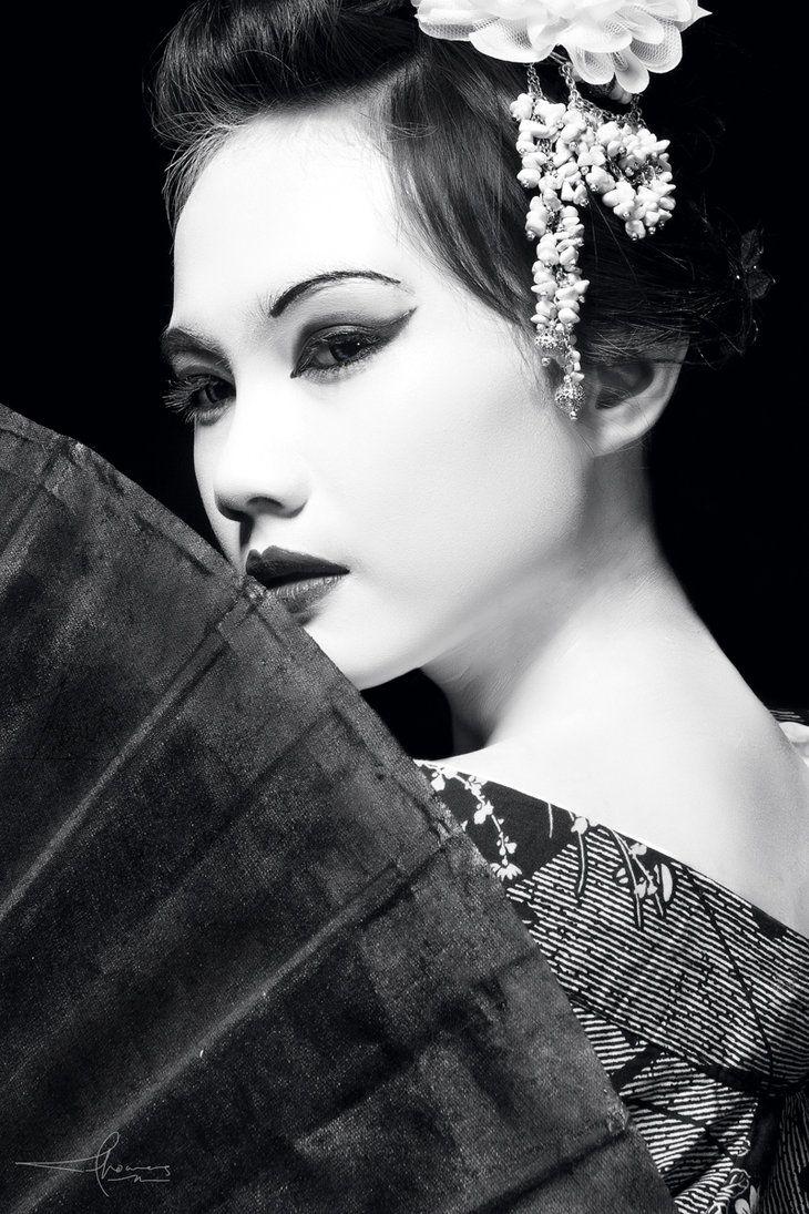 Potrait of Geisha by Thomasadhinugroho on deviantART