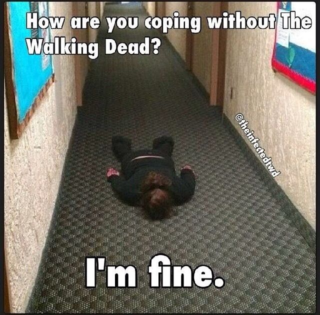 My parents get so annoyed when i just lie on the floor mumbling: Daryllllllll Riiiiiiick Cooooooaaaarl come baaaaaaack