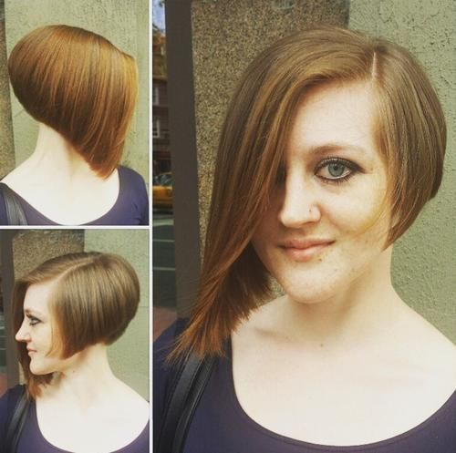 Asymmetric inverted bob
