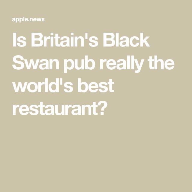 Is Britain's Black Swan pub really the world's best restaurant?