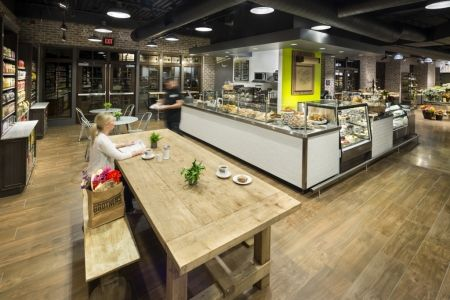 """Eat. Shop. Love.: Food retailers are adding full-service dining to their stores, to regain the """"romance of food."""" (More: http://vmsd.com/content/eat-shop-love) Photography: Mark Steele, Columbus, Ohio"""