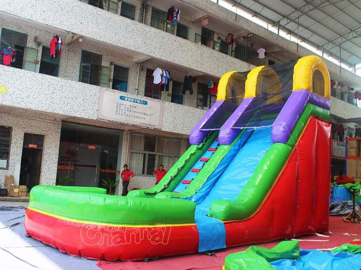 Buy Commercial Cheap Kids Inflatable Water Slide With Pool, Would Be A Good  Rental Water Inflatable In Summer For Small Or Big Kids.