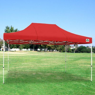 Caravan Sports 10x15 ft. Classic 500 Denier Heavy Duty Commercial Canopy Red - 21503205032, Durable