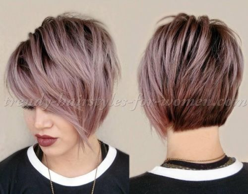 short hairstyles with long bangs - short asymmetrical haircut ...