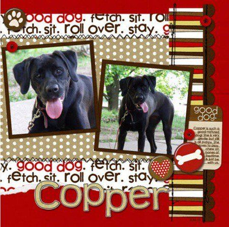 Dog Scrapbook Page Layouts | Source: http://www.bing.com/images/search?q=dog+scrapbook+page+ideas ...