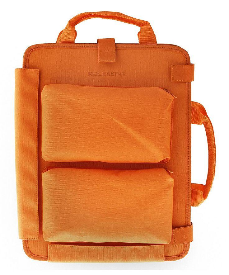 Orange laptop bag // by Moleskin