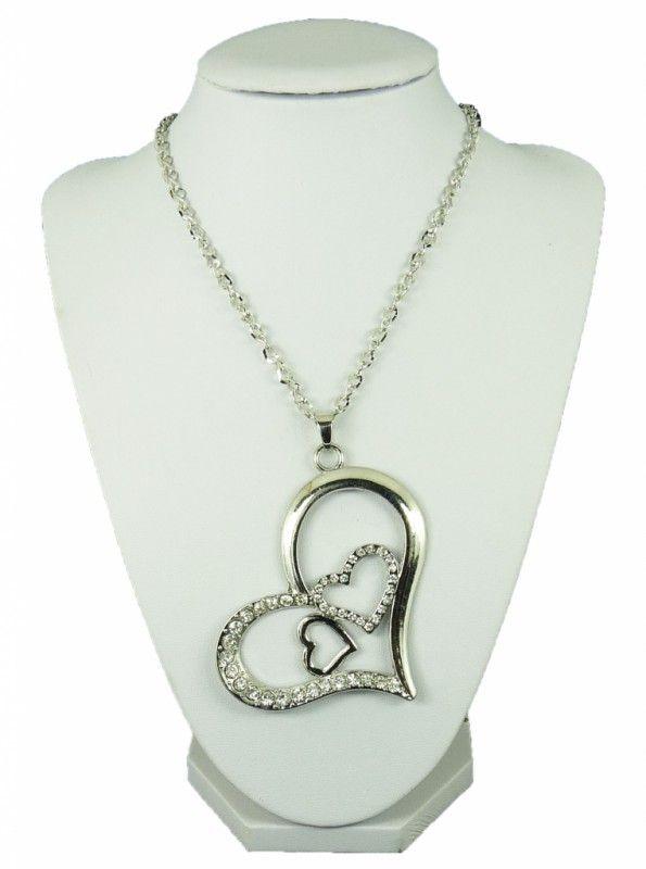 Náhrdelník dlouhý řetěz srdce 10609-12 | Bižuterie Kozák