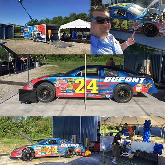 NASCAR simulator at Radwell-Indiana's Open House Grand Opening (July 15th, 2015)