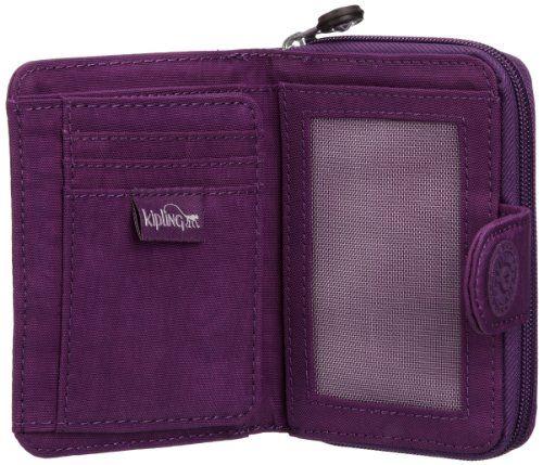 Kipling NEW MONEY K1389163C - Monedero de nailon para mujer, color morado