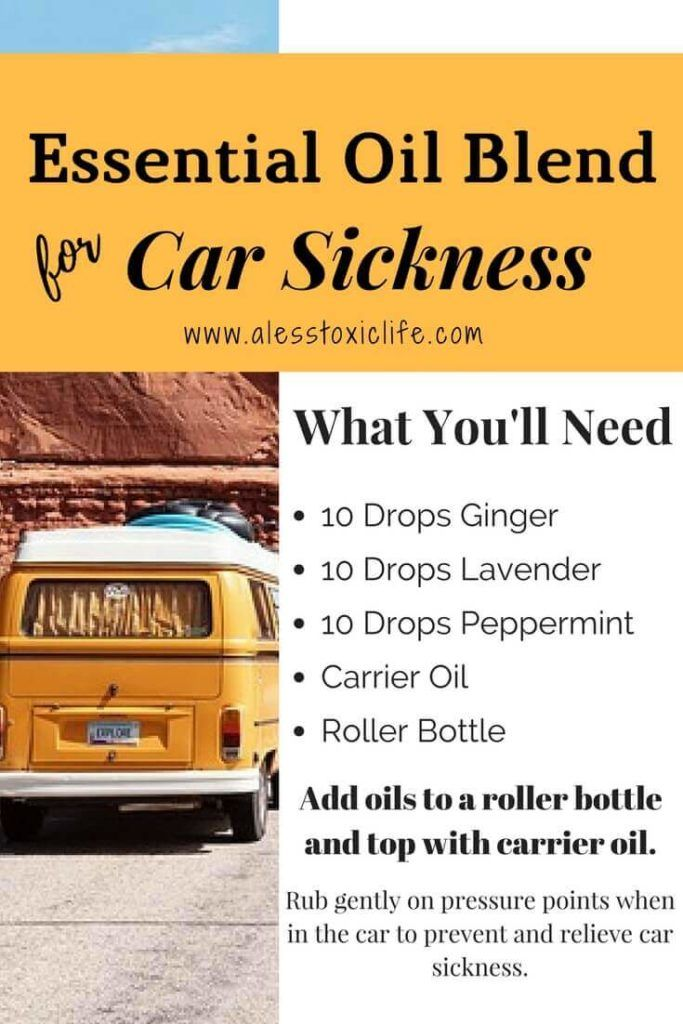 How To Use Essential Oils For Car Sickness Plus 9 Diy Recipes To Try Essential Oils For Nausea Essential Oils Digestion Essential Oil Roller