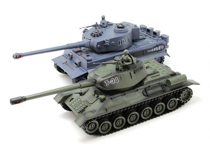 ТАНКОВЫЙ БОЙ НА РАДИОУПРАВЛЕНИИ 1/28 RUSSIAN T34 VS GERMAN KING TIGER  http://hobbystart.ru/item.php?id=60444