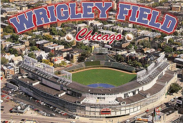 Wrigley Field Chicago... We didn't watch a game there, but we have hung out outside of there being touristy!