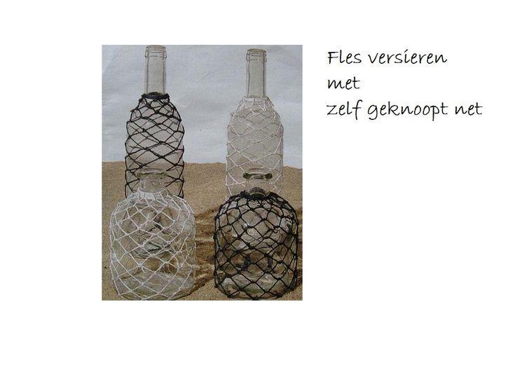17 beste idee n over flessen versieren op pinterest decoratieve flessen versierde flessen en - Versieren van een muur in ...