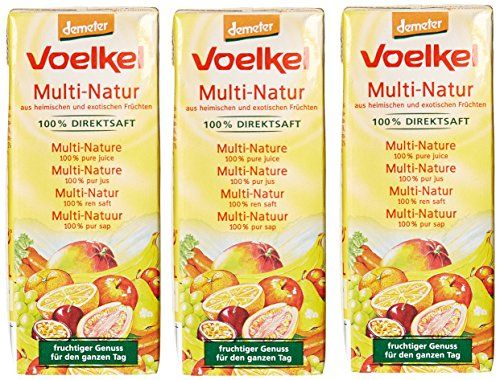 Voelkel Jus de Fruits Multi-Fruits Bio 3 x 20 cl: Issue de l'agriculture biologique Végétarien Sans gluten Cet article Voelkel Jus de…