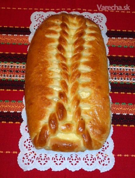 Tvarohový koláč s vrkočom (fotorecept)