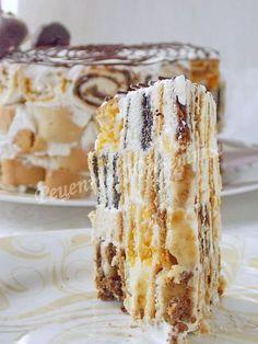 рецепт торта трухлявый пень с курагой, изюмом, черносливом и орехами