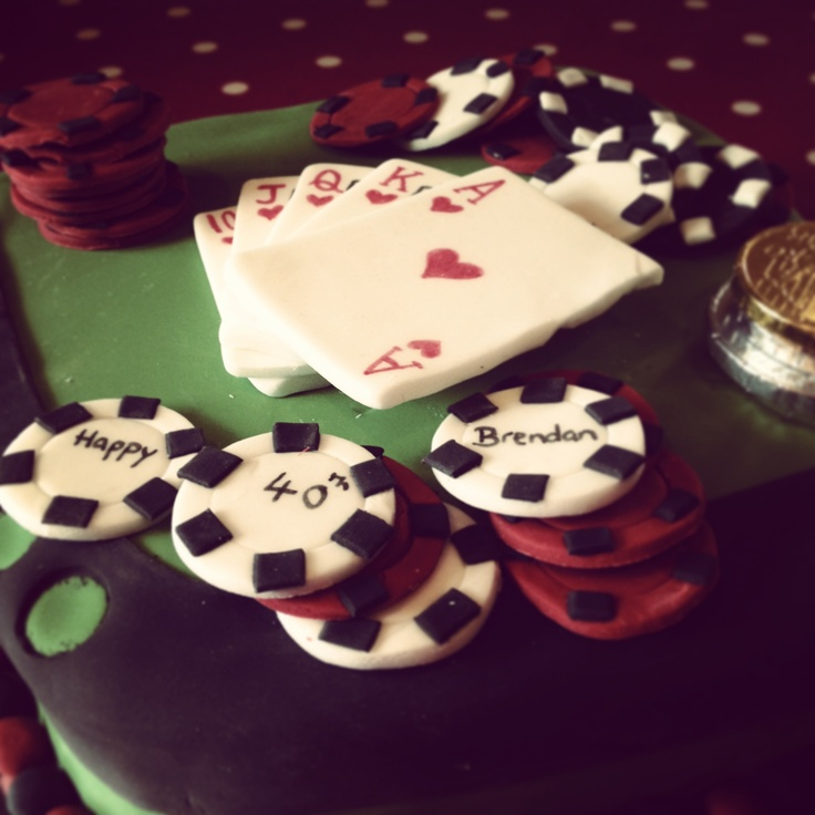 40th Birthday Poker Table Cake
