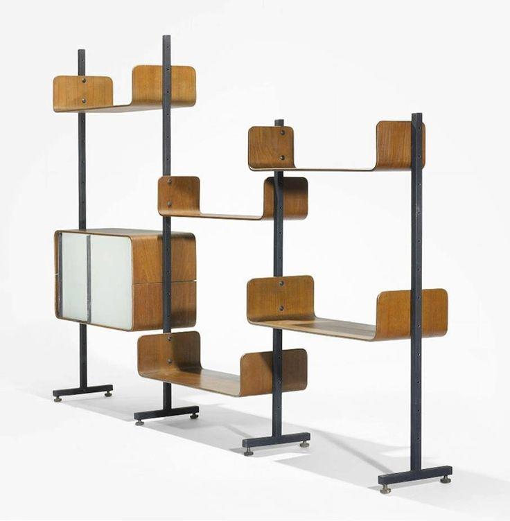 another mid century modular room divider shelving system. Black Bedroom Furniture Sets. Home Design Ideas