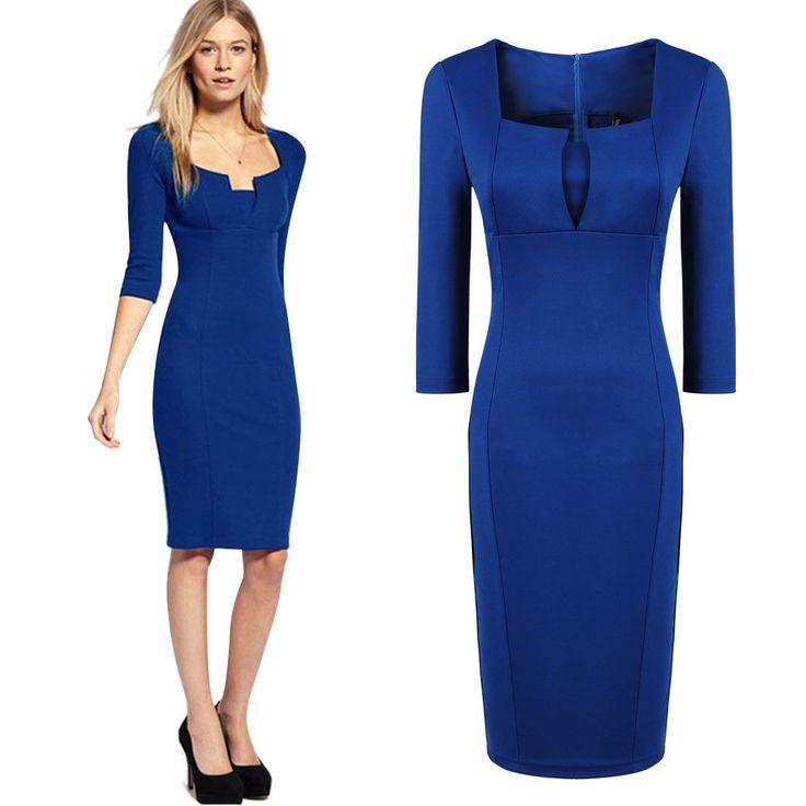 http://www.ebay.com/itm/Women-039-s-Square-Neck-3-4-Sleeve-Stretch-Bodycon-Cocktail-Prom-Dresses-Size-8-16-/231038498839?&_trksid=p2056016.l4276#ht_10545wt_1167