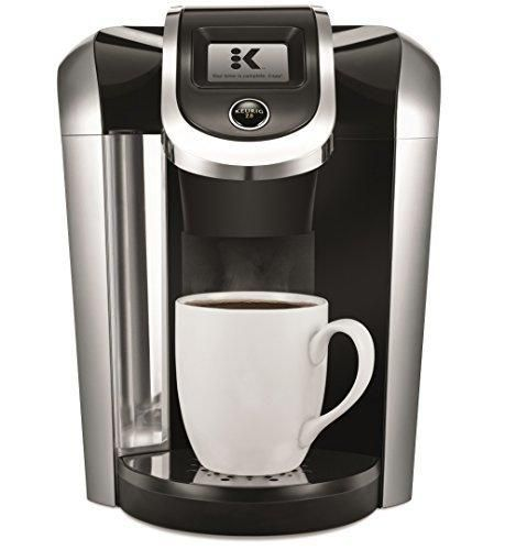 Keurig K475 Single Serve Programmable K- Cup Pod Coffee Maker with 12 oz brew size and temperature control Black