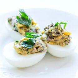 jajka faszerowane z pieczarką
