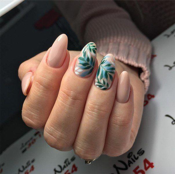 Маникюр весна 2018: цветы и веточки