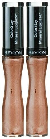 Colorstay Mineral Lipglaze #500 LASTING SHIMMER (PACK OF 2) BY REVLON. Lip gloss is infused with a unique mineral complex that adds glossy color to lips. ColorStay Mineral Lipglaze by Revlon is designed to last for up to 8 hours without touchups. Protects lips from dryness, too.