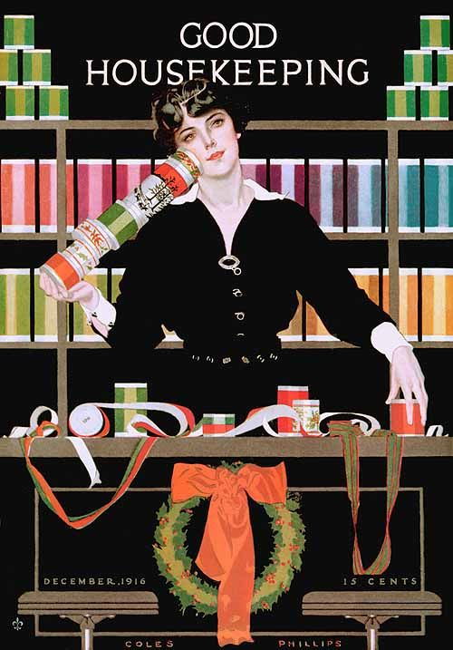 "Coles Phillips ""Good Housekeeping magazine"" (1916)"